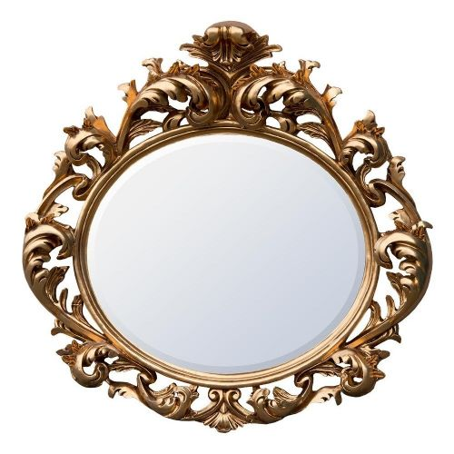 Baroque Gold Bevelled Oval Mirror